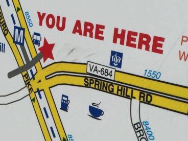 wayfinding sign spring hill metro tysons virginia