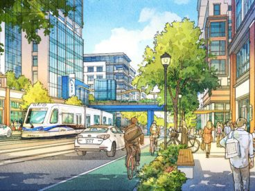 charlotte gateway district street rendering source - city of charlotte